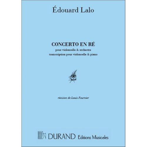 DURAND LALO E. - CONCERTO EN RE - VIOLONCELLE ET OCHESTRE