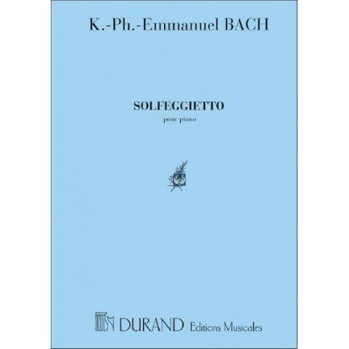 DURAND BACH J.S. - SOLFEGGIETTO - PIANO