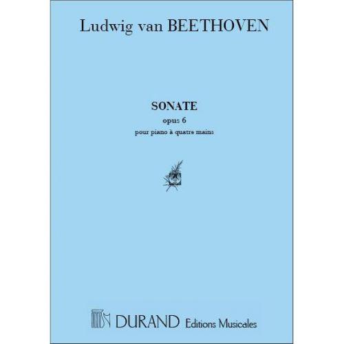 DURAND BEETHOVEN L.V. - SONATE OP 6 - PIANO 4 MAINS