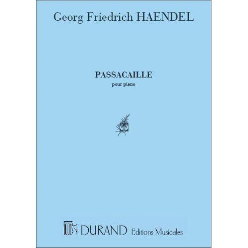 DURAND HAENDEL - PASSACAILLE - PIANO