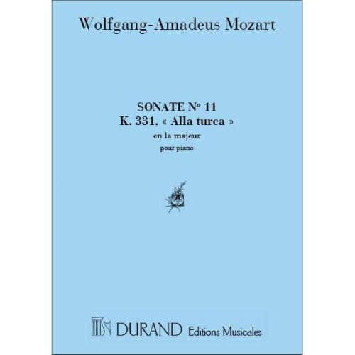 DURAND MOZART W.A. - INTEGRALE DES SONATES POUR PIANO: N. 11, K. 331 - PIANO