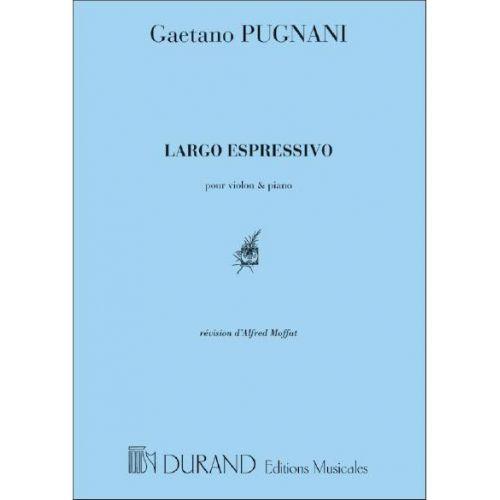DURAND PUGNANI G. - LARGO ESPRESSIVO - VIOLON ET PIANO