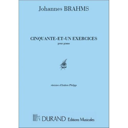 DURAND BRAHMS J. - 51 EXERCICES - PIANO
