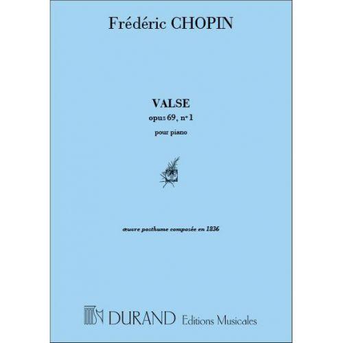 DURAND CHOPIN F. - VALSE OP 69 N 1 - PIANO