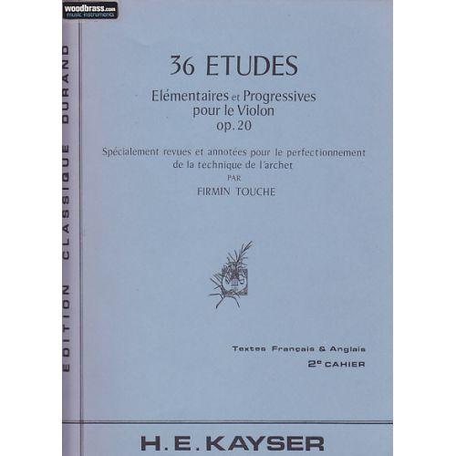 DURAND KAYSER - 36 ETUDES VOL. 2 - VIOLON