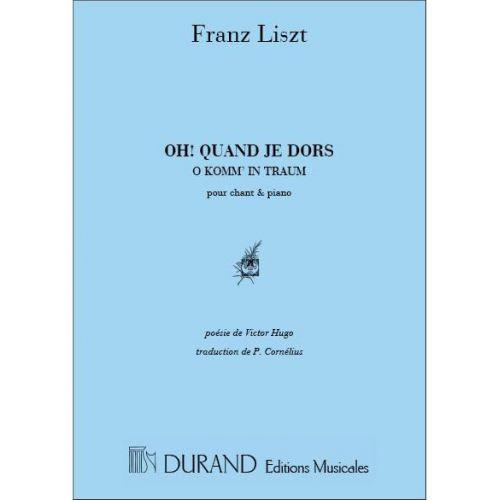 DURAND LISZT - OH QUAND JE DORS - CHANT ET PIANO