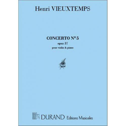 DURAND VIEUXTEMPS - CONCERTO N 5 - VIOLON ET PIANO