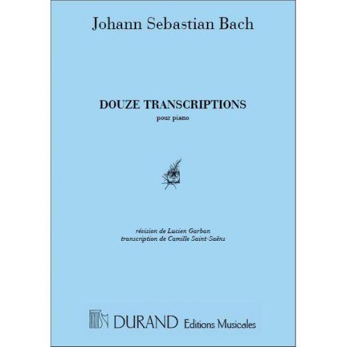 DURAND BACH J.S. - 12 TRANSCRIPTIONS - PIANO