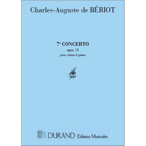 DURAND BERIOT CHARLES DE - CONCERTO N°7 - VIOLON,PIANO