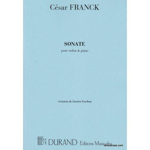 DURAND FRANCK C. - SONATE - VIOLON ET PIANO