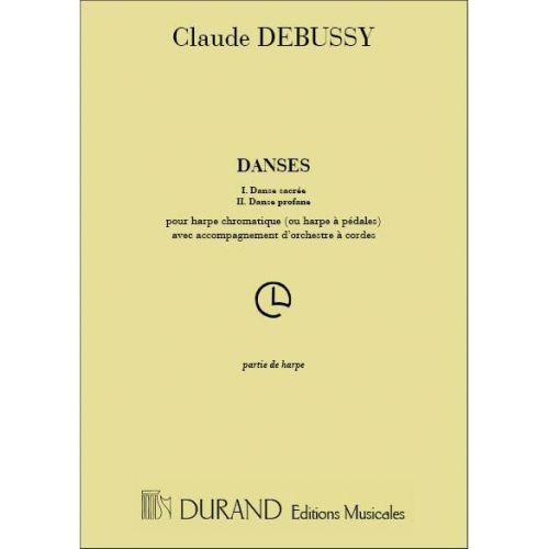 DURAND DEBUSSY - DANSES - HARPE