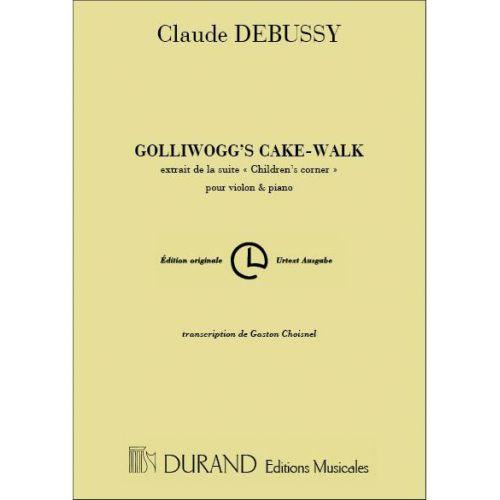 DURAND DEBUSSY C. - GOLLIWOGG'S CAKE-WALK - VIOLON ET PIANO