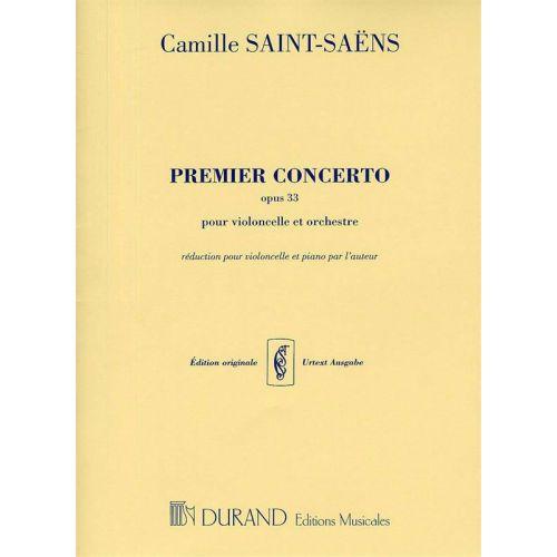 DURAND SAINT SAENS C. - PREMIER CONCERTO OPUS 33 - VIOLONCELLE ET ORCHESTRE
