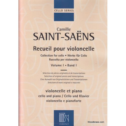 DURAND SAINT-SAËNS - RECUEIL POUR VIOLONCELLE VOL.1