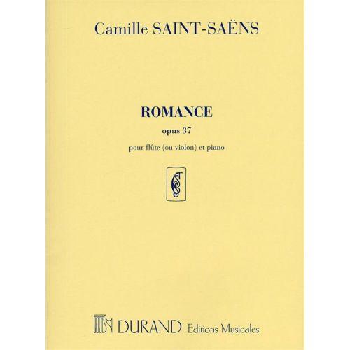 DURAND SAINT SAENS C. - ROMANCE OP 37 - FLUTE ET PIANO