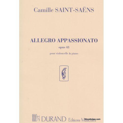 DURAND SAINT SAENS C. - ALLEGRO APPASSIONATO OPUS 43 - VIOLONCELLE ET PIANO