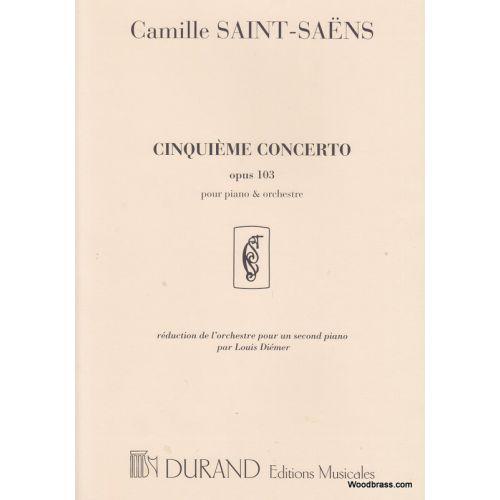 DURAND SAINT-SAENS - CONCERTO N 5 OP 103 - PIANO ET ORCHESTRE