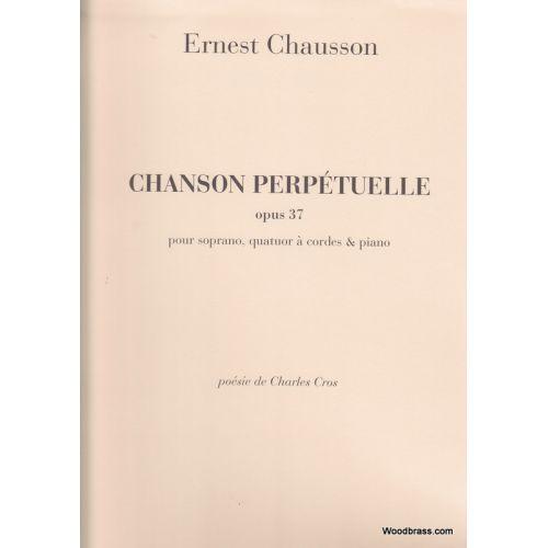 DURAND CHAUSSON E. - CHANSON PERPETUELLE, OPUS 37 - QUATUOR A CORDES