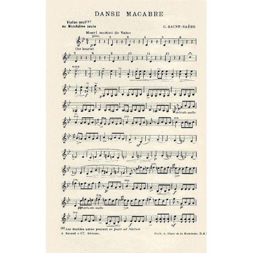 DURAND SAINT SAENS C. - DANSE MACABRE - VIOLON SOLO