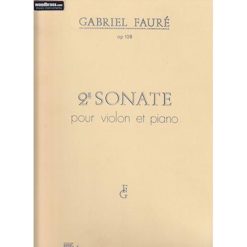 DURAND FAURE - SONATE N 2 OP 108 - VIOLON ET PIANO