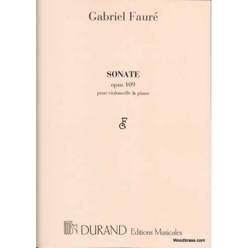 DURAND FAURE G. - SONATE N 1 OPUS 109 - VIOLONCELLE ET PIANO