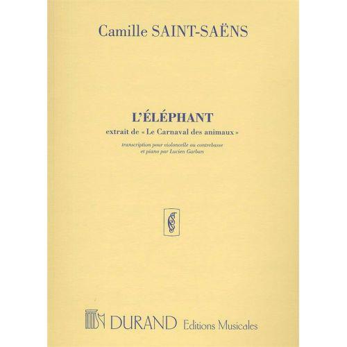 DURAND SAINT SAENS C. - L'ELEPHANT - VIOLONCELLE ET PIANO