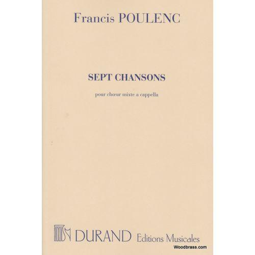 DURAND POULENC F. - SEPT CHANSONS - CHOEUR