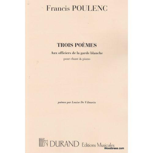DURAND POULENC F. - AUX OFFICIERS... - CHANT ET PIANO
