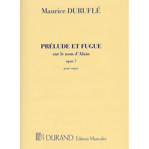 DURAND DURUFLE - PRELUDE ET FUGUE OP 7 - ORGUE