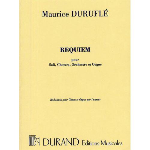DURAND DURUFLE M. - REQUIEM OP 9 POUR - SOLI, CHOEURS ET ORCHESTRE