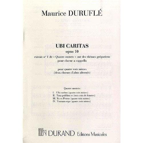 DURAND DURUFLE - QUATRE MOTETS SUR DES THEMES GREGORIENS OP.10 N 1 - CHOEUR