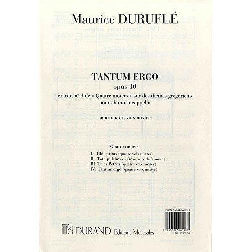 DURAND DURUFLE M. - TANTUM ERGO OP.10 N.4 - CHOEUR