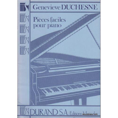 DURAND DUCHESNE GENEVIEVE - PIECES FACILES POUR PIANO