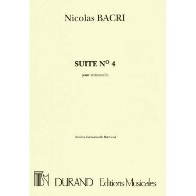 DURAND BACRI - SUITE N 4 - VIOLONCELLE