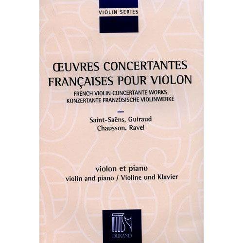 DURAND OEUVRES CONCERTANTES FRANCAISES - VIOLON ET PIANO