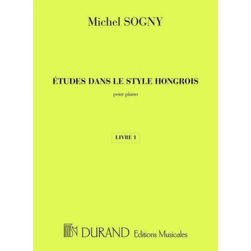 DURAND SOGNY M. - ETUDES DANS LE STYLE HONGROIS - PIANO