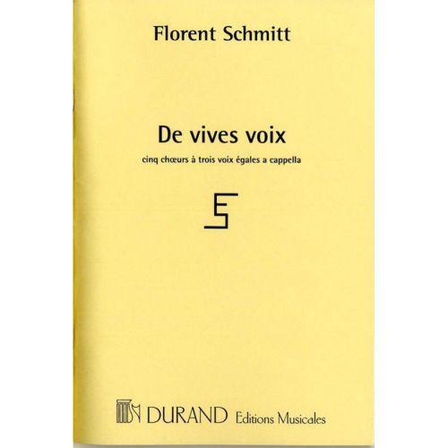 DURAND SCHMITT F. - DE VIVES VOIX - CHOEUR