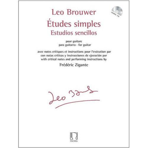DURAND BROUWER LEO - ETUDES SIMPLES - ESTUDIOS SENCILLOS - GUITARE
