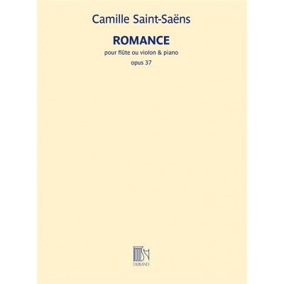 DURAND SAINT-SAENS CAMILLE - ROMANCE OP.37 - FLUTE (OU VIOLON) & PIANO