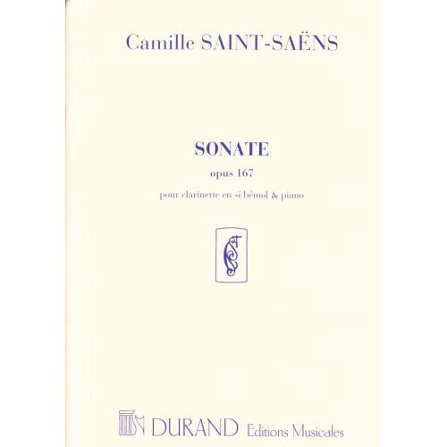DURAND SAINT-SAENS CAMILLE - SONATE OP.167 - CLARINETTE, PIANO