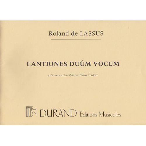 DURAND LASSUS R. - CANTIONES DUUM VOCUM - Partitions