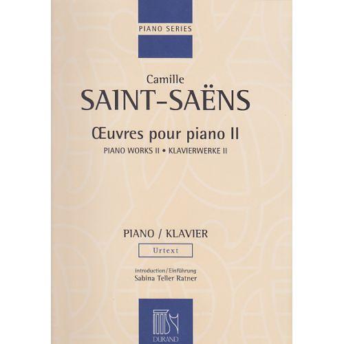 DURAND SAINT-SAENS C. - OEUVRES POUR PIANO - VOLUME II (VALSES) - PIANO