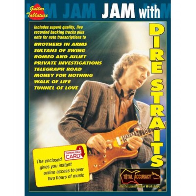 WISE PUBLICATIONS JAM WITH DIRE STRAITS + 2 CDS - GUITAR TAB