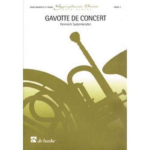 DEHASKE SUTERMEISTER H. - GAVOTTE DE CONCERT - TROMPETTE, PIANO