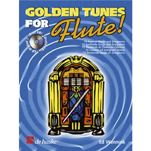 DEHASKE GOLDEN TUNES FOR FLUTE + CD