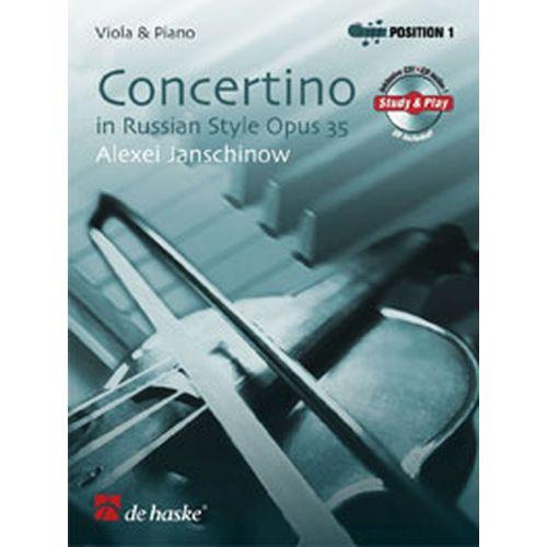 DEHASKE JANSCHINOW ALEXEI - CONCERTINO OP.35 - ALTO, PIANO