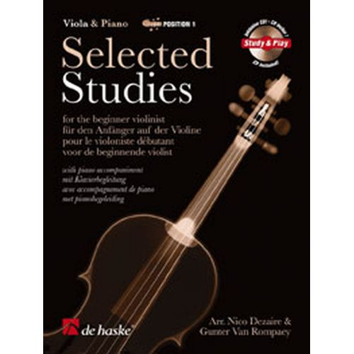 DEHASKE SELECTED STUDIES + CD - ALTO, PIANO