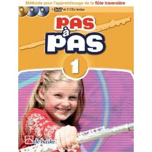 DEHASKE PAS A PAS FLUTE TRAVERSIERE VOL.1 + 2 CD ET DVD