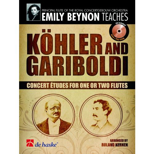DEHASKE KÖHLER/GARIBOLDI - CONCERT ETUDES FOR ONE OR TWO FLUTES + CD