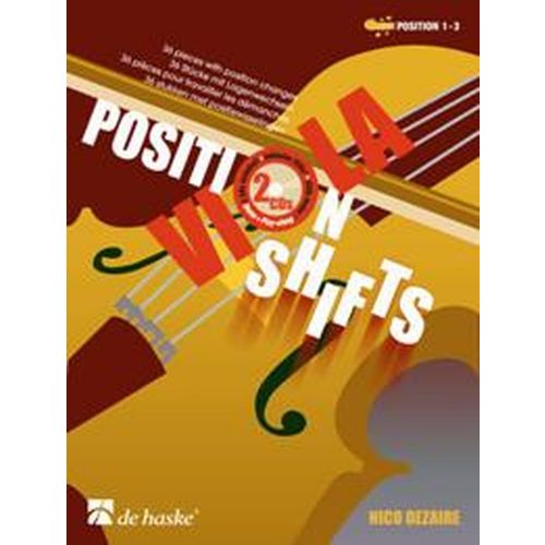 DEHASKE DEZAIRE NICCO - VIOLA POSITION SHIFTS + CD - ALTO